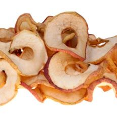 Dried Cinnamon Apple Snack Recipe:  dried in the oven (200* for up to 2 hours)