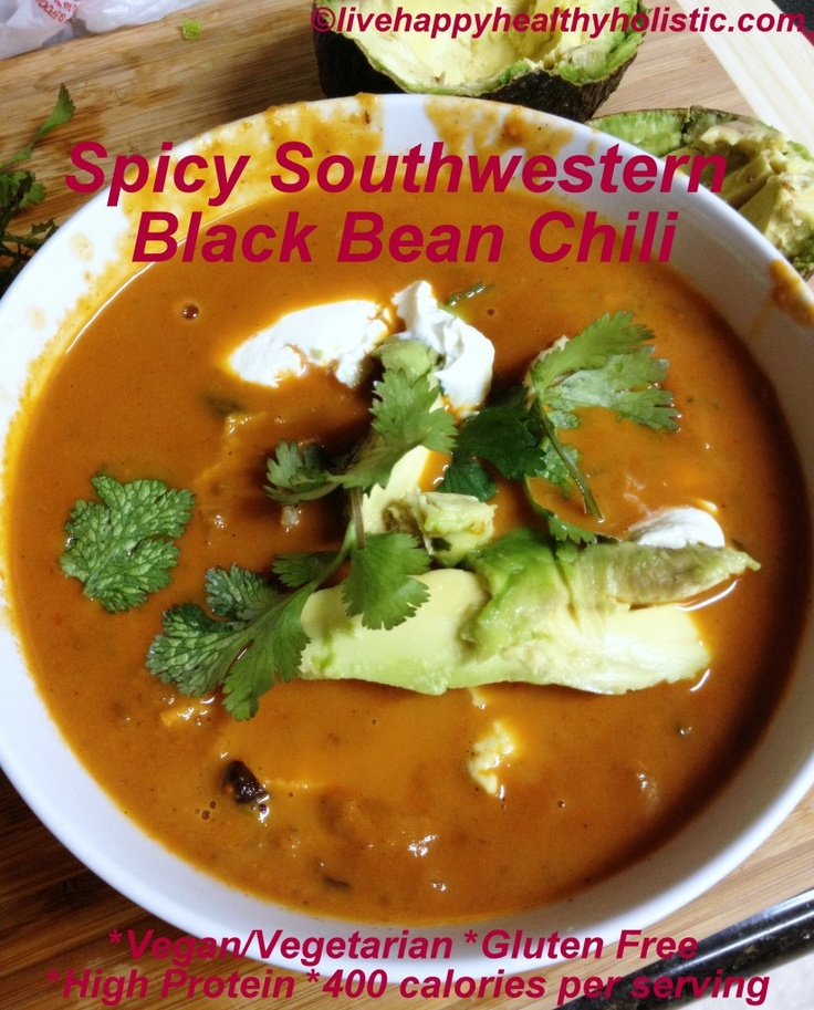 Black bean chili, Bean chili and Black beans on Pinterest