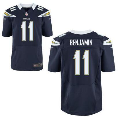 Men's NFL San Diego Chargers #11 Travis Benjamin Navy Blue Elite Jersey