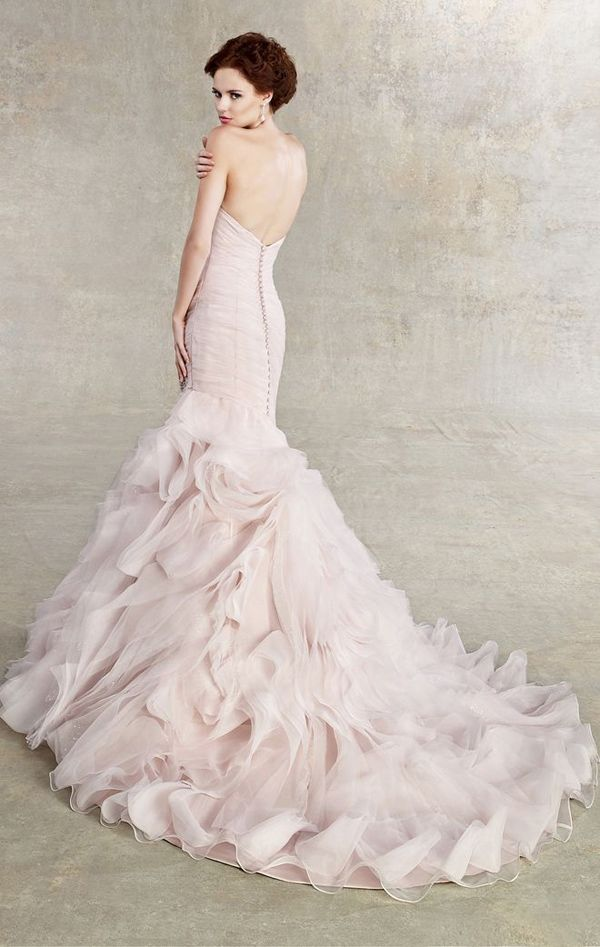 20 Stunning Non-White Wedding Dresses for the Bold and Daring - Wedding Dress by Kitty Chen via ZsaZsa Bellagio