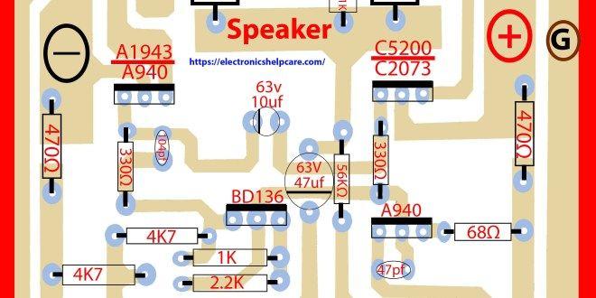 2sc5200 2sa1943 amplifier circuit diagram pcb | name in 2019