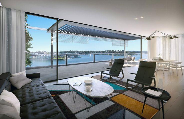 Alexander, Barangaroo, Sydney, Australia. #architecture #ptwarchitects #barangaroo #louvres #harbourside #sydneywaterfront #livegreenery #residentialarchitecture #mixeduse