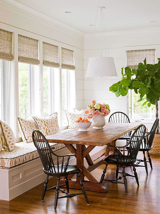 280 best images about building a new old house on for Dining room banquette