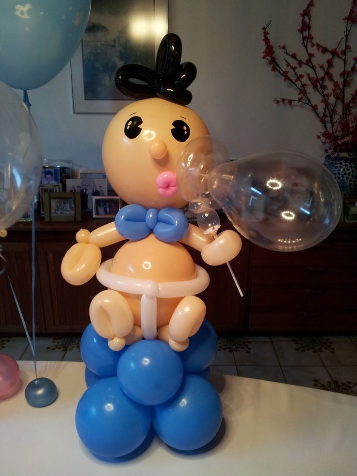 451 best balloons baby showers images on pinterest for Baby full moon party decoration