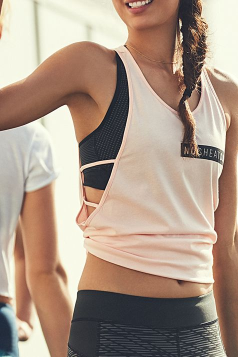 No Cheat Days Strappy Tank. Incredibly soft cotton modal construction feels amazing next to skin. Generous dropped armholes with double strap detail.