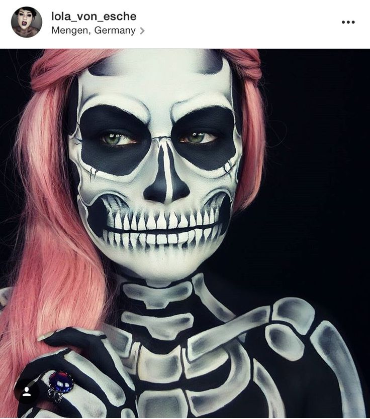 halloween 2016 halloween makeup halloween ideas halloween costumes skeleton makeup skull makeup face paintings halloween decorations body painting - Halloween Skull Painted Face