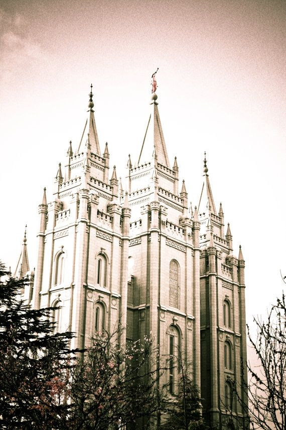 Salt Lake Temple / LDS Temple / Black and by MikeGilePhotography, $29.00