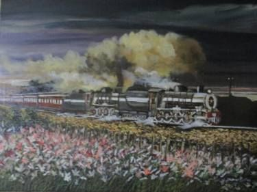 "Saatchi Art Artist FRANS BOTHA; Painting, ""Onweer op Namakwaland"" #art"