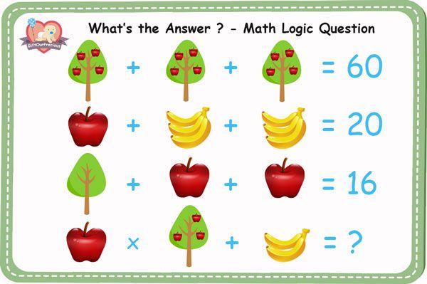 What is the Answer ? - Math Logic Questions with Answers ...Question And Answer Images For Facebook