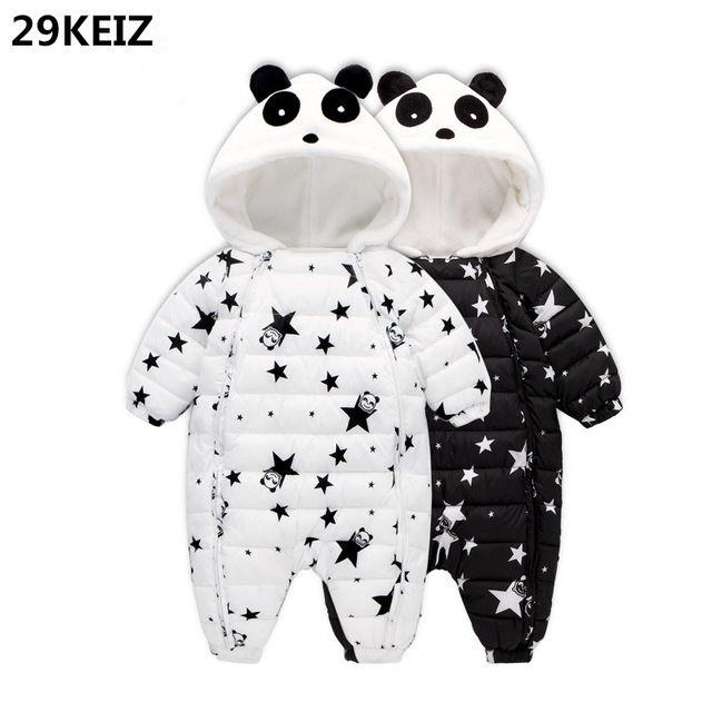 52a94fbfe 29KEIZ Baby Winter Cotton Rompers Cute Panda Girls Boys Jumpsuit ...