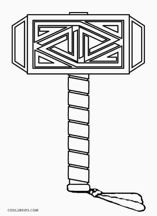 Thor Hammer Coloring Page Avengers Coloring Pages Avengers