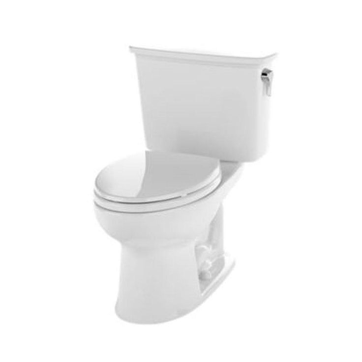 toto eco drake 2piece 128 gpf singleflush elongated toilet in cotton white