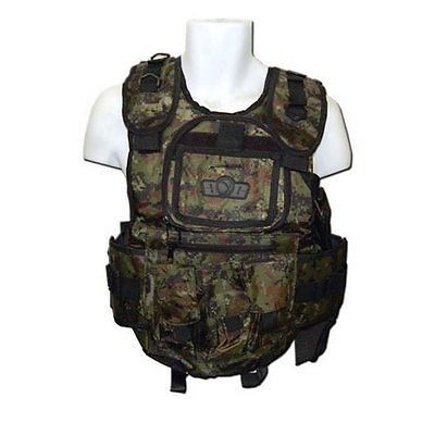 Vests 36284: Gxg Army Paintball Airsoft Tactical Vest Digi Green BUY IT NOW ONLY: $45.62