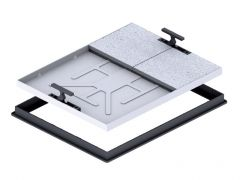 T-Range  The next generation 'T' Range Recessed Manhole Cover and Frame.  The light duty tray cover range to suit a wide range of applications for both internal and external uses. Ideal for a variety of floor coverings such as screed, carpet tiles and many more, leaving it virtually invisible to the eye