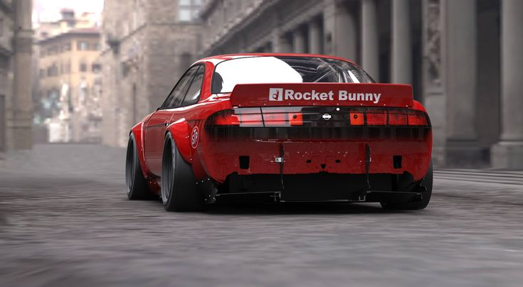 Rocket Bunny S14 Plymouth Cuda look Face kit on it