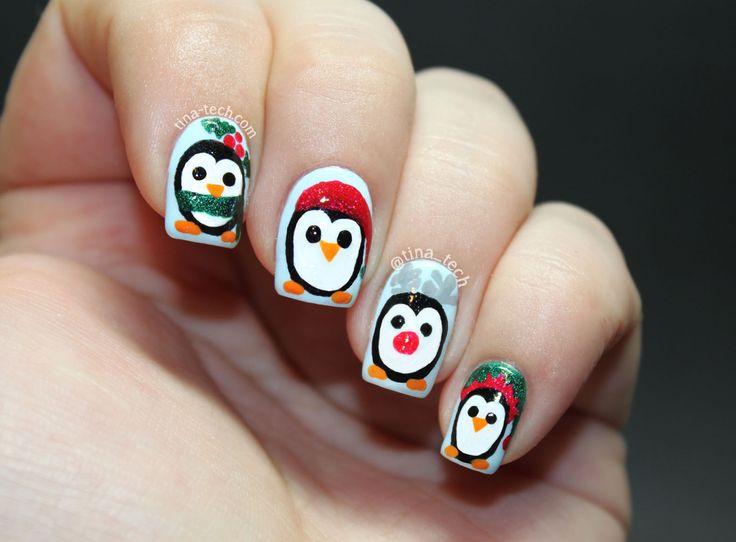 pinguin nail art