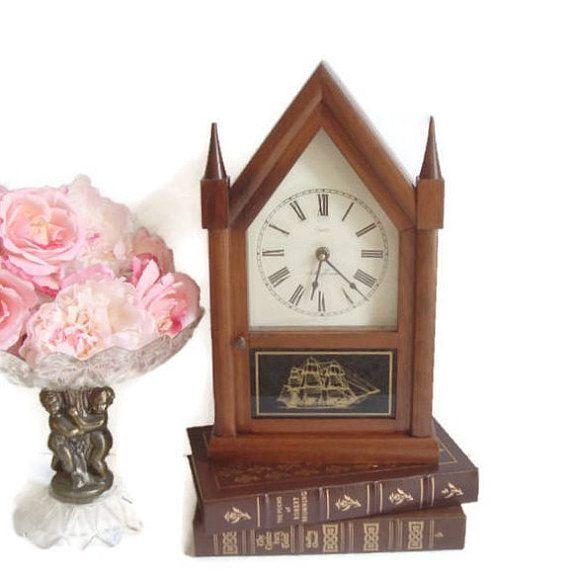 Seth Thomas Nautical Clock  Steeple Clock Mantle / Desk /