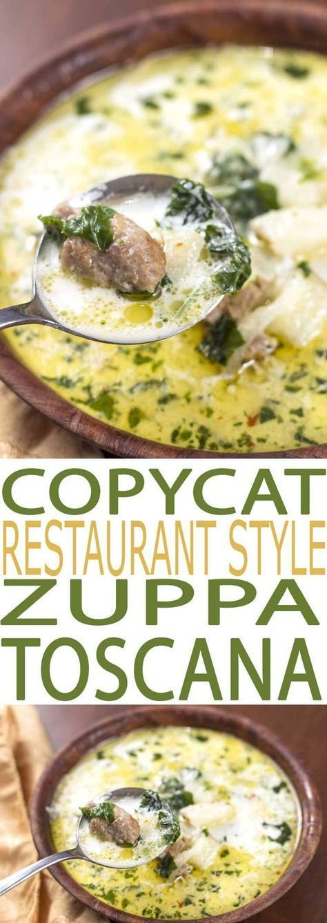 Zuppa Toscana Soup is a flavorful recipe that's both easy to eat and to make. It is filled with healthful kale, a superfood full of essential nutrients. #zuppa #copycat #copycatrecipes #souprecipes #soup