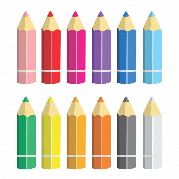 Lapices De Colores De Dibujos Animados V Premium Vector Freepik Vector Escuela Libro Educacion Papel Lapices De Colores Dibujos De Crayones Lapices