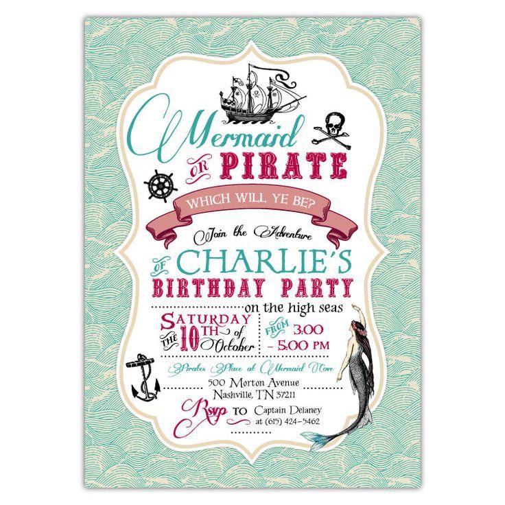 Best 25 Pirate party invitations ideas – Pirate Birthday Invitations Wording