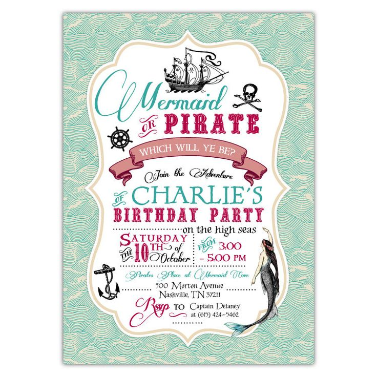 Best 25+ Pirate party invitations ideas on Pinterest | Pirate ...