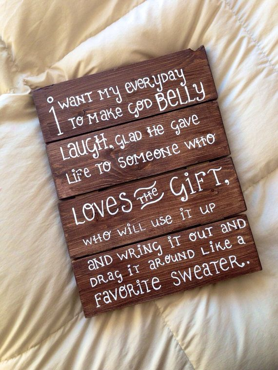 Customized Cold Tangerines Quote Wooden Sign on Etsy, $30.00