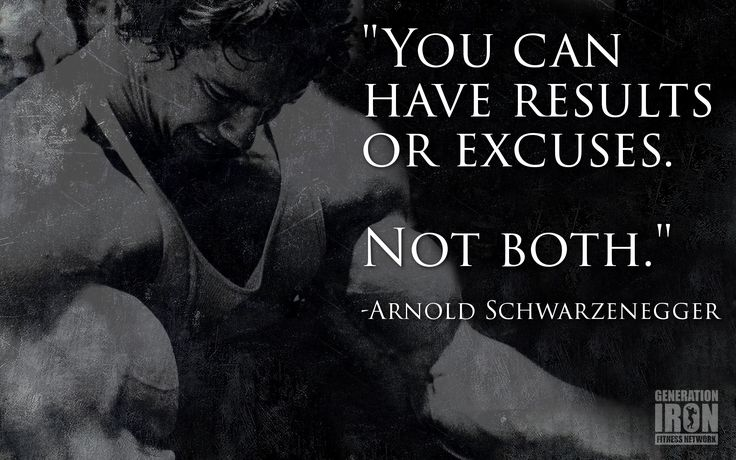 QUOTE OF THE WEEK: ARNOLD SCHWARZENEGGER - Generation Iron Fitness ...
