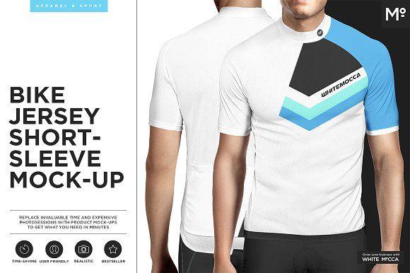 Bike Jersey Shortsleeve Mock-up by Mocca2Go/mesmeriseme on @creativemarket