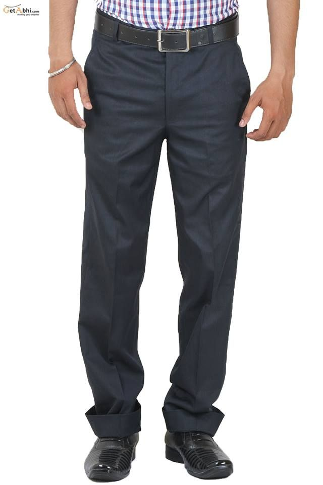 http://tinyurl.com/hevdmco Navy Blue Formal ‪#‎nthetics‬ ‪#‎Trouser‬ has a Waistband with Belt loops. A zippered fly, Pitch Pocket on the front sides, Welt Pockets with Button Cloture on the back. Pair this trouser with white or Checks Shirt With Black formal shoes.