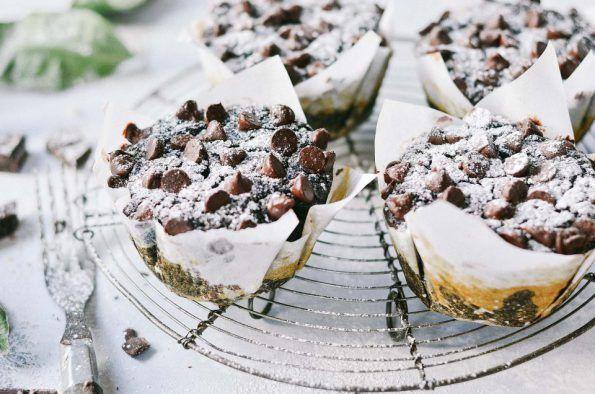 Bezlepkové cukinovo-banánové mafínky s kúskami čokolády