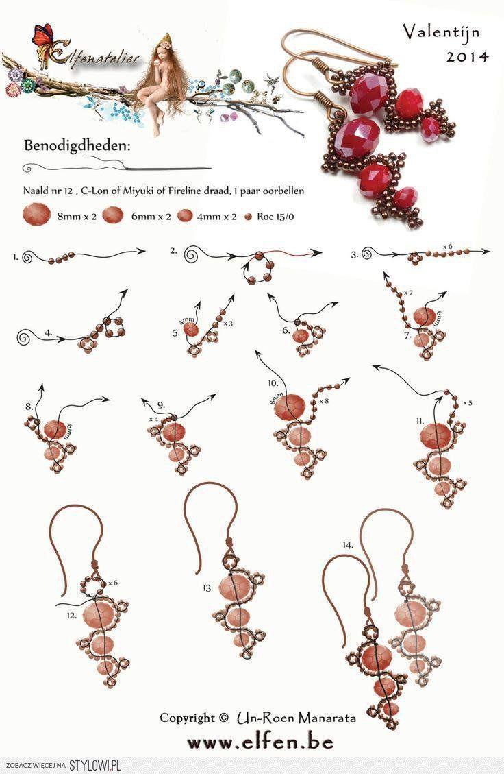 Unique earring or pendant pattern!