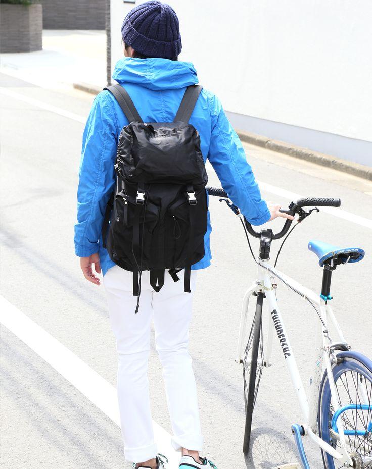 旅行行楽アウトドア登山自転車リュックバックパックナイロンバックパックナイロン/無地/ブラック/アウトドア/登山山/メンズ/レディース
