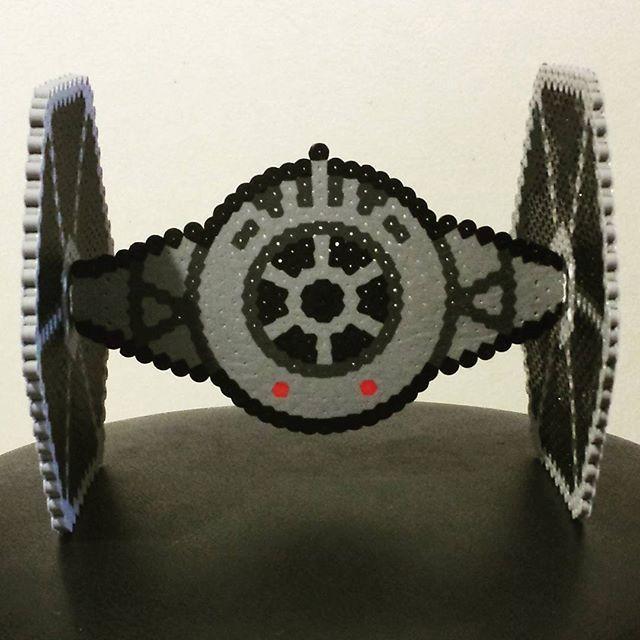 3d star wars tie fighter perler beads by kawaii kellys pattern. Black Bedroom Furniture Sets. Home Design Ideas