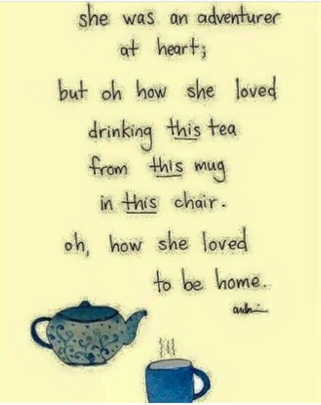 So true. I just love being home with my comfy socks and hot cuppa