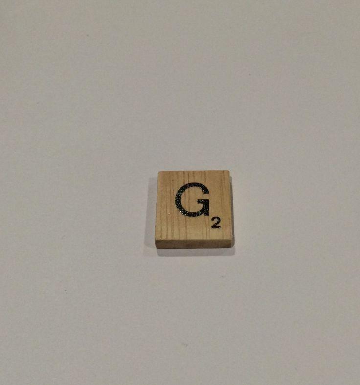 "ONE TILE LETTER ""G"" - wooden Scrabble Tiles letters - Magnets Pendants Craft by ElvesNFairies on Etsy"
