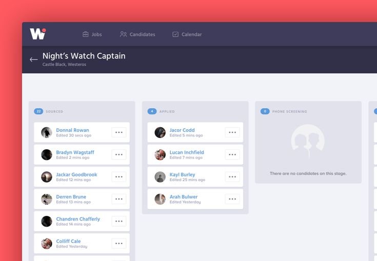 Consulter ce projet @Behance : « Workhiro - Modern Software for Hiring…