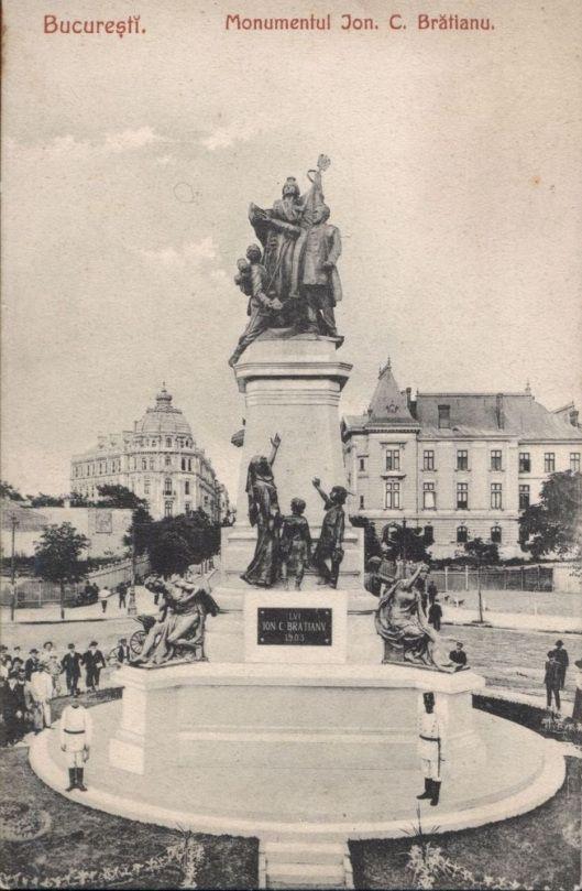 Monumentul-IC-Bratianu Vechiul Bucuresti old Bucharest XIX century