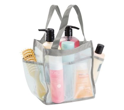 dorm shower caddy tote mint and gray dorm essentials college supplies