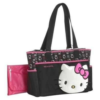 Show off your love of hello kitty when you tote your baby essentials in this hello kitty diaper bag.