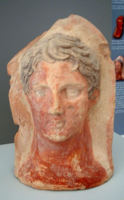 """Late 4th - mid 3rd c. BCE From Lucera (ancient Luceria), votive deposit on the Belvedere hill.  Museo di Archeologia Urbana """"G. Fiorelli"""", Lucera (FG), Puglia, Italy."""