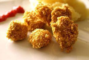 Nuggets croustillants panés aux corn-flakes (four)