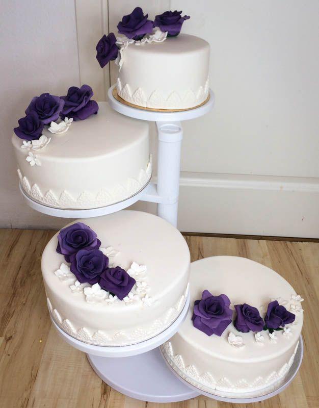 bröllopstårta vit och lila - Sök på Google