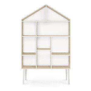 Scaffale Casa  marrone e bianco  120 x 22 x 75 cm