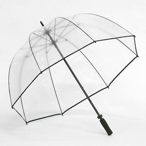 Awesome Elite Rain Frankford GB01 BLK Clear Golf Bubble Umbrella Black Trim Great Ideas