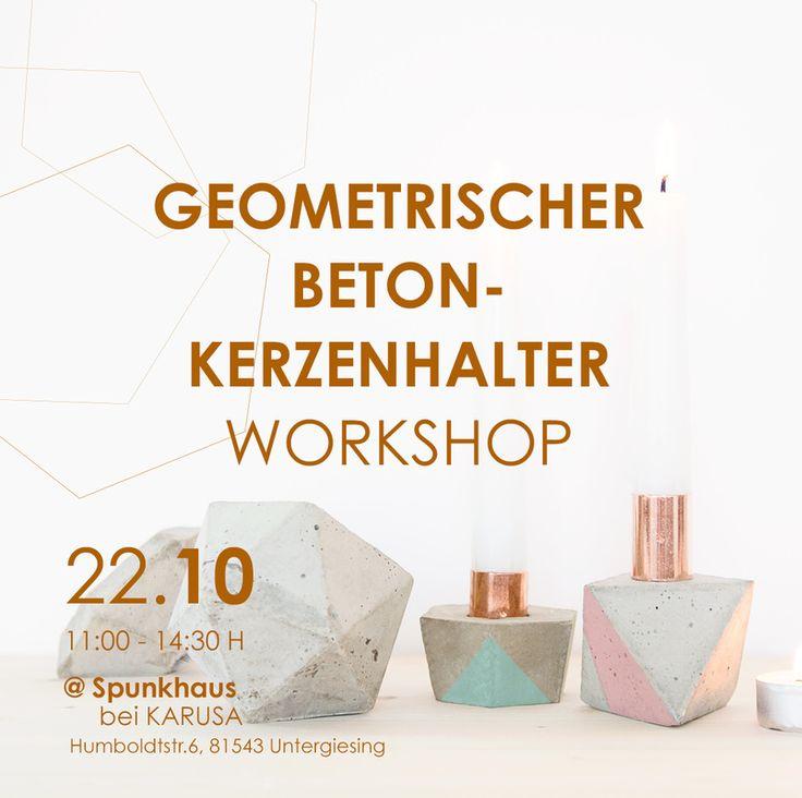 Schaut vorbei und meldet euch an. Am 22.10. gebe ich einen betonworkshop im Spunkhaus in München