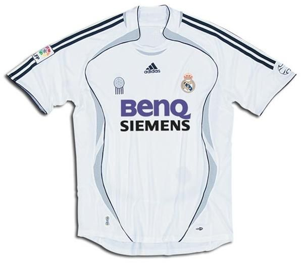 low priced 66c87 60992 Real Madrid Adidas 2006-07 3rd fútbol RETRO Shirt FUSSBALL ...