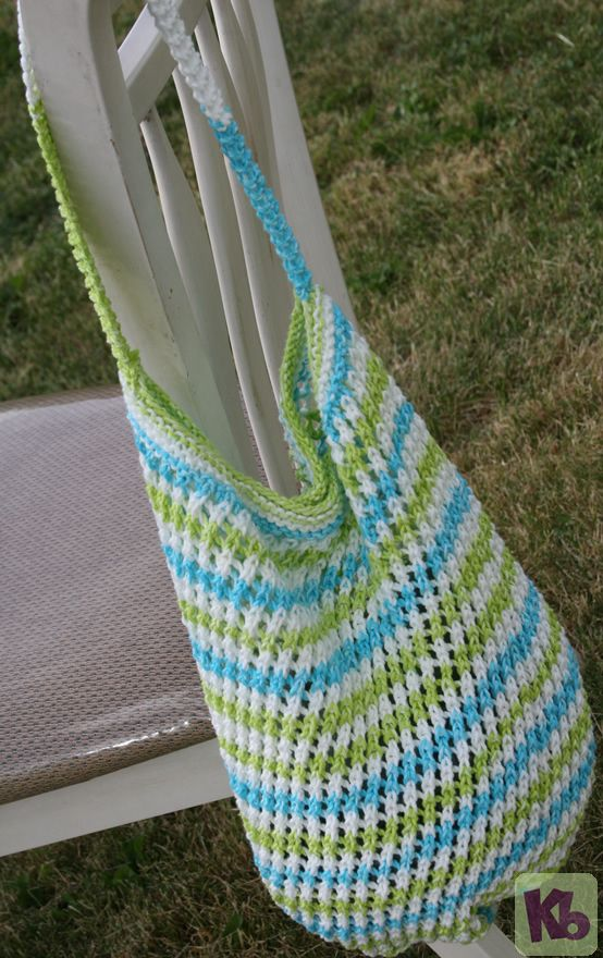 Loom Knitting Projects For Beginners Free : Market bag free loom knitting pattern