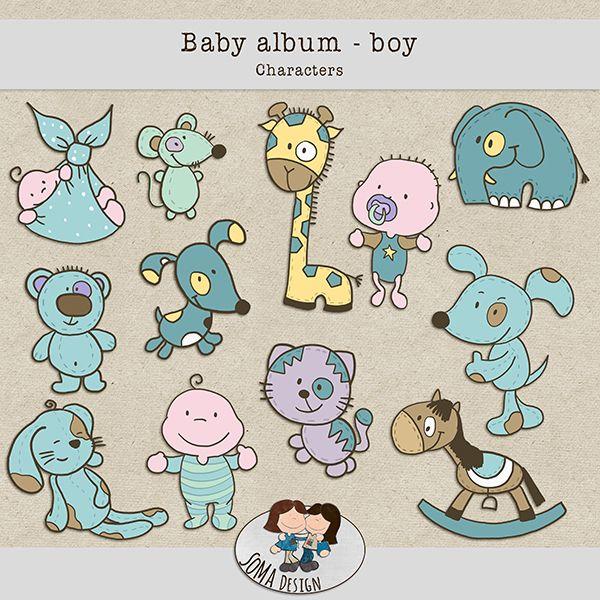 SoMa Design: Baby album - Boy - Characters