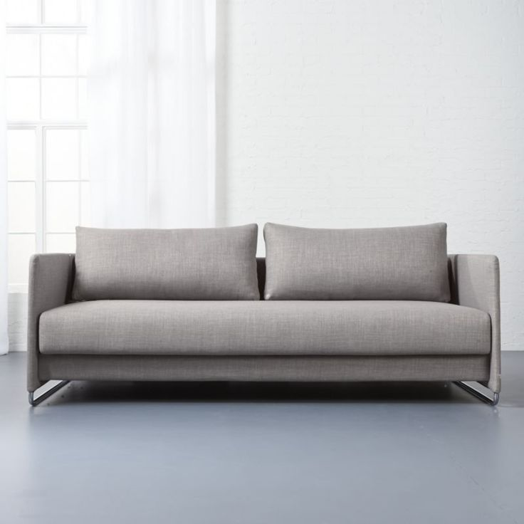Option Random Grey Sleeper Sofa Ingenious Transforms From To Guest Bed In Clever Setup Tailored Heathered Menswear Weave Modern