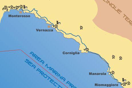 √The Cinque Terre 's Paths : La Via dell'Amore and the Blue Path   hiking info